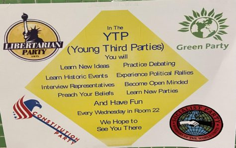Young Third Parties club displays information about themselves around HC.